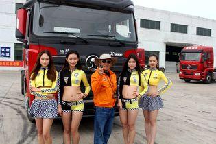 美女都试了把 陕汽中国车王挑战赛很燃