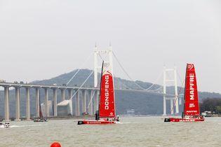 2017-18沃尔沃帆船赛广州站 中国之队《东风号》回到母港